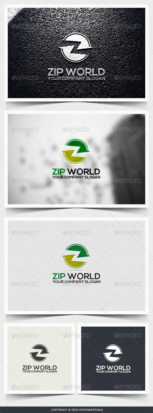 GraphicRiver Zip World Logo Template 6545971