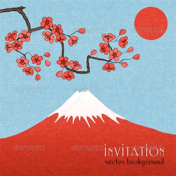 GraphicRiver Sakura Background or Invitation Card 6546149