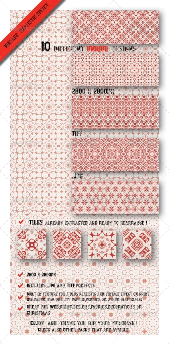 GraphicRiver Gift Wrapping Paper Set Patterns 6546342