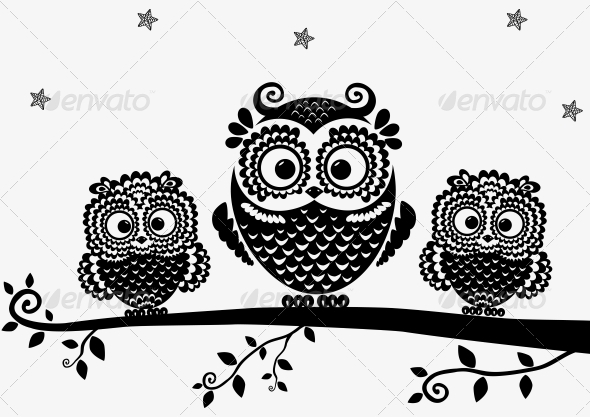 GraphicRiver Owl Black 6546483