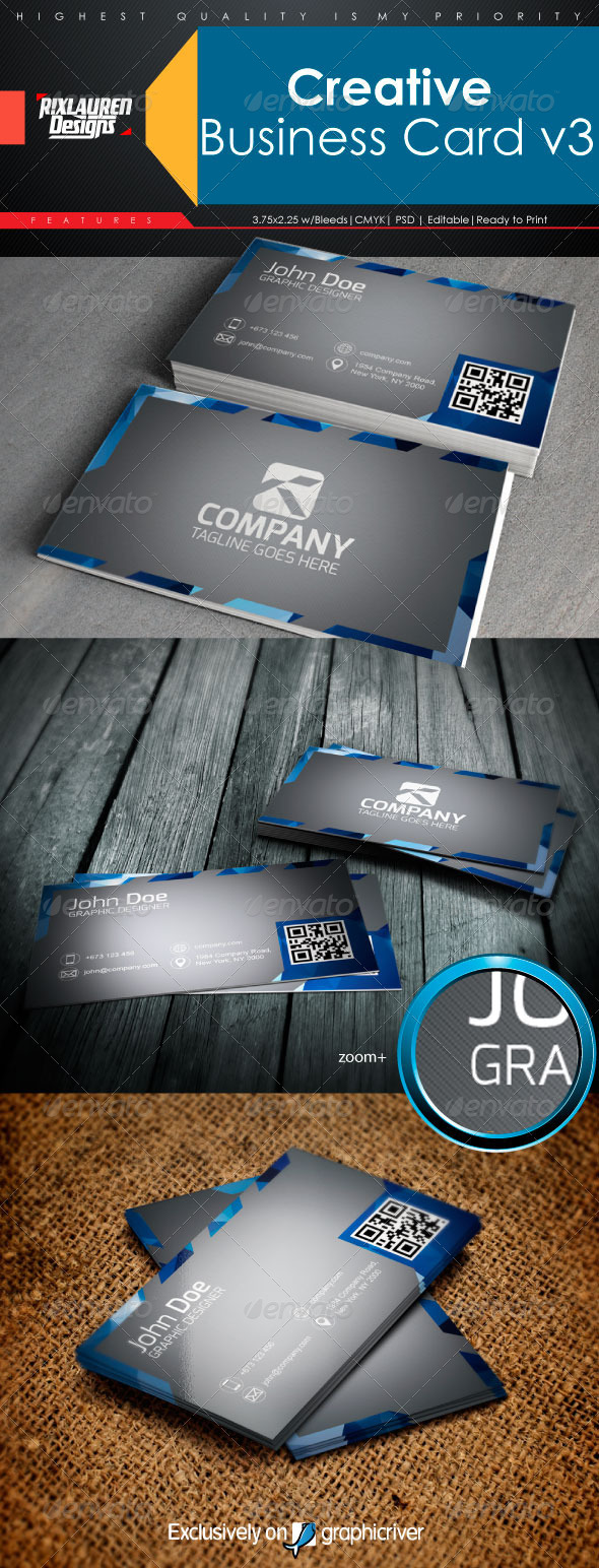 GraphicRiver Creative Business Card V3 6546707