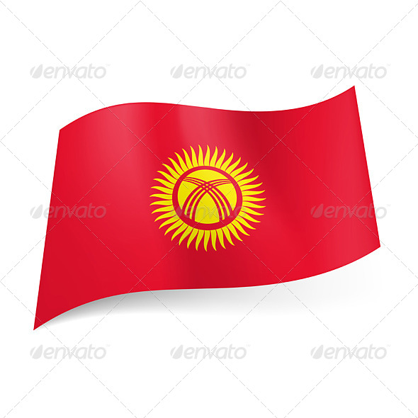 GraphicRiver State Flag of Kyrgyzstan 6546806