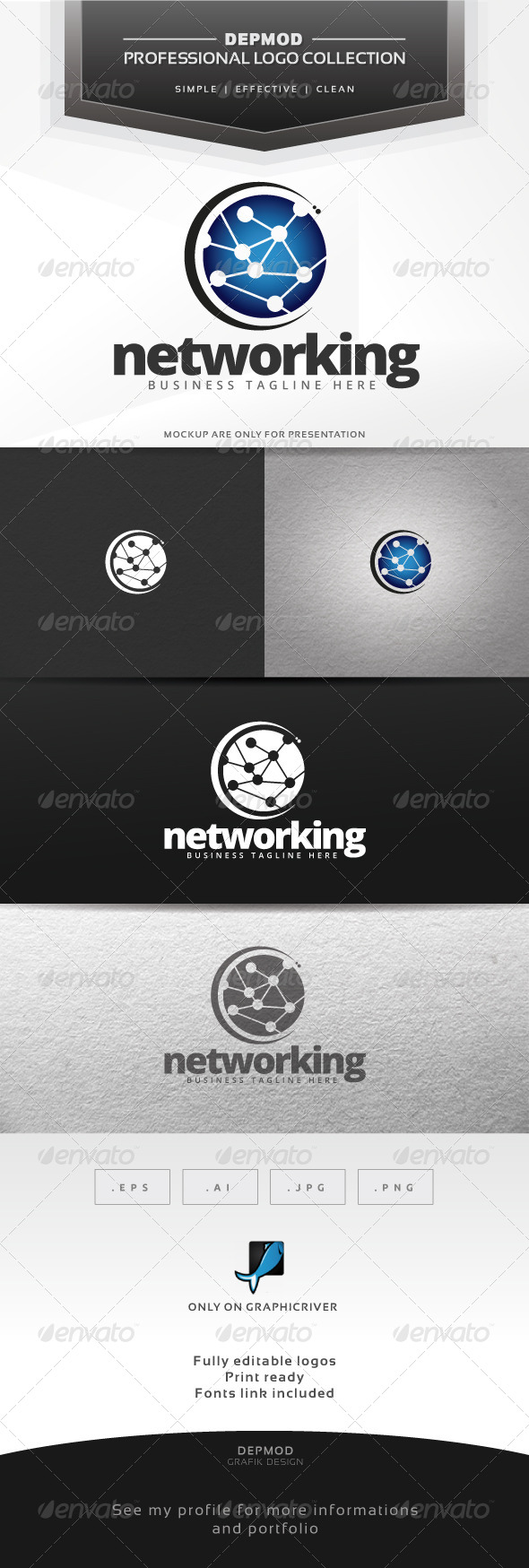 GraphicRiver Networking Logo 6546807