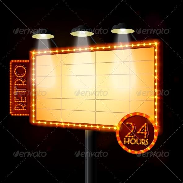 GraphicRiver Blank Illuminated Billboard Poster 6547298
