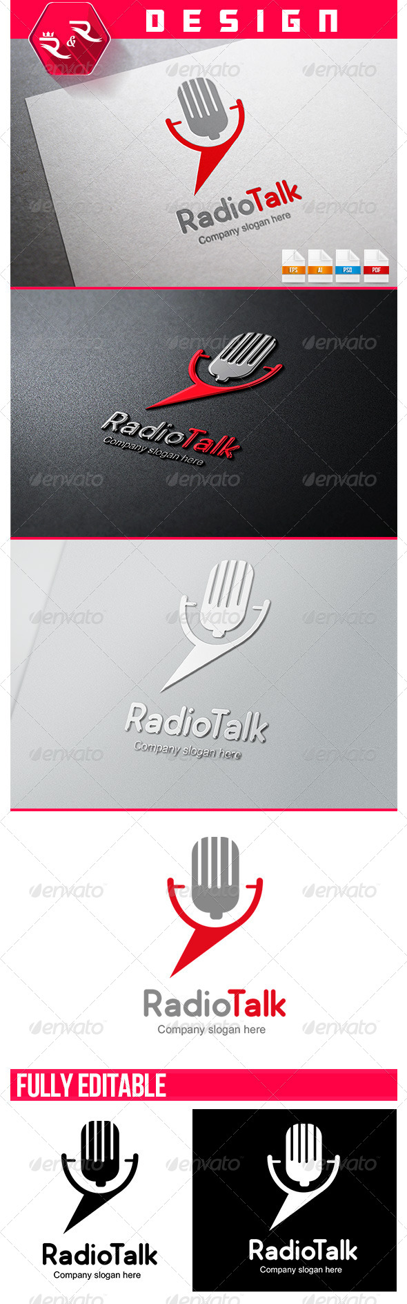 GraphicRiver Radio Talk Logo 6547591