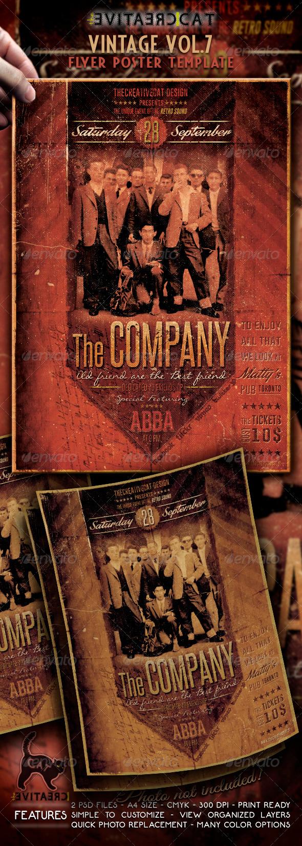 GraphicRiver Vintage Flyer Poster Vol 7 6547596