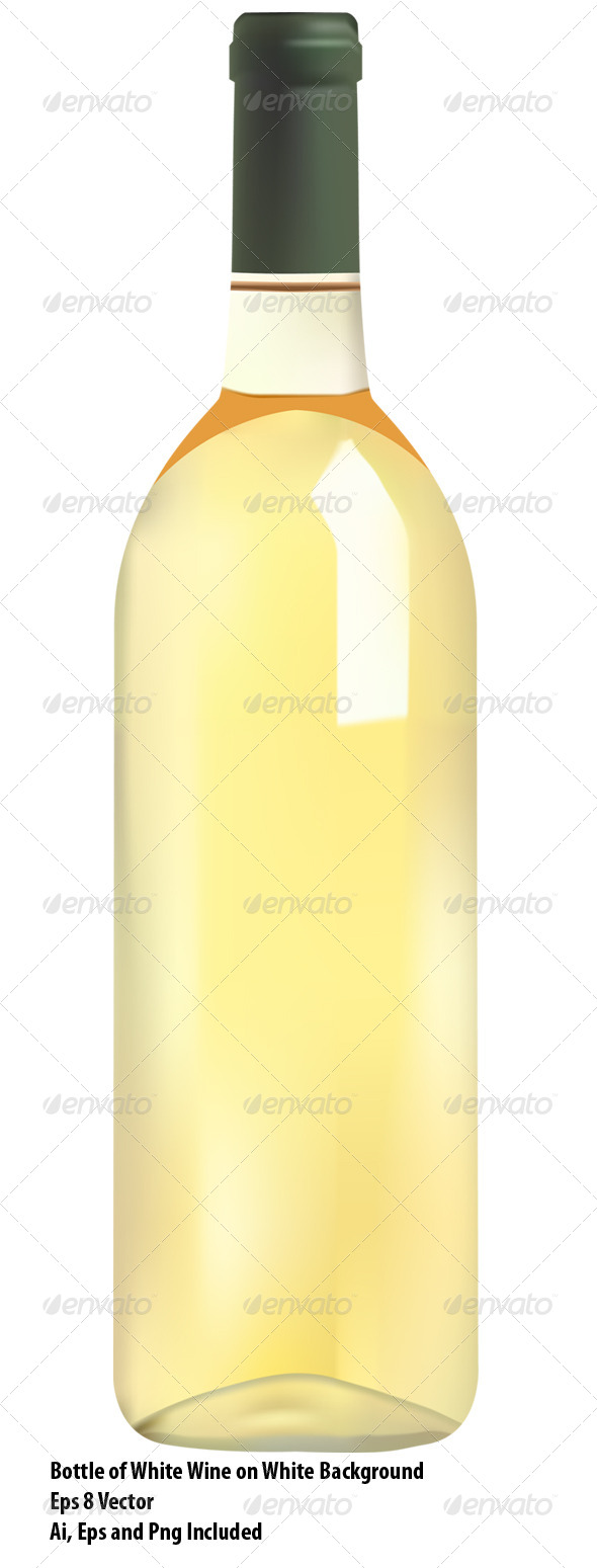 GraphicRiver White Wine Bottle 6547675