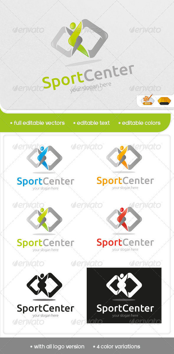 GraphicRiver Sport Center Logo 6547937