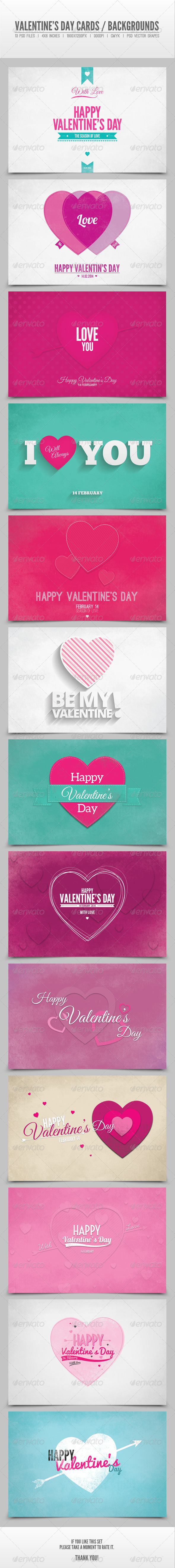 GraphicRiver Valentine s Day Cards Backgrounds Vol.3 6548045