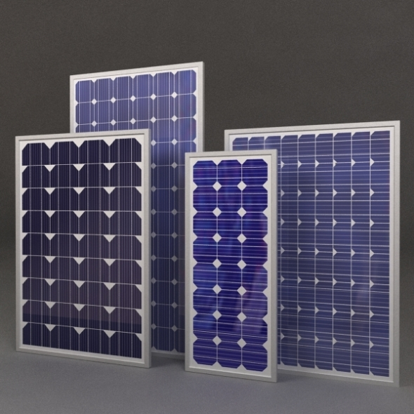 Solar Panels - 3DOcean Item for Sale