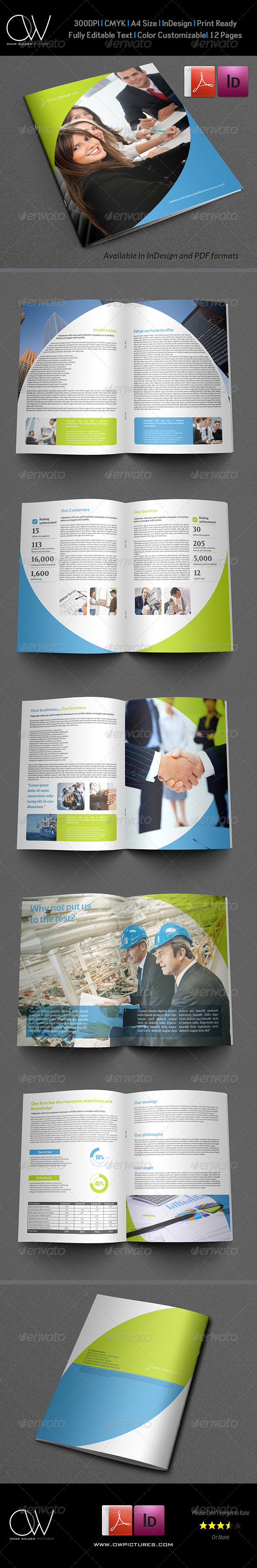 GraphicRiver Company Brochure Template Vol.18 12 Pages 6533305