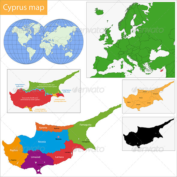 GraphicRiver Cyprus Map 6548143
