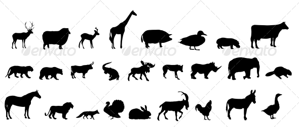 GraphicRiver Animal Silhouettes 6548175