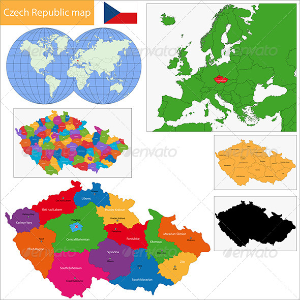 GraphicRiver Czech Republic Map 6548334