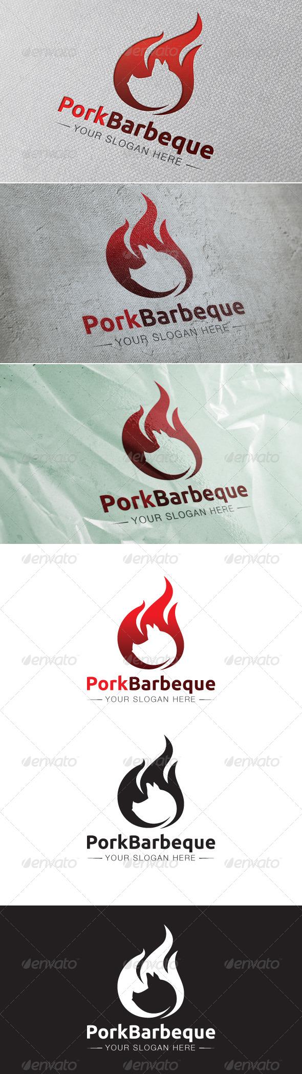 GraphicRiver Pork Barbeque Logo Template 6548340