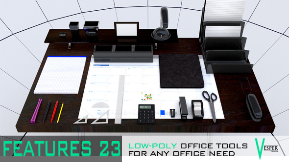 3DOcean Office Supplies 6548515