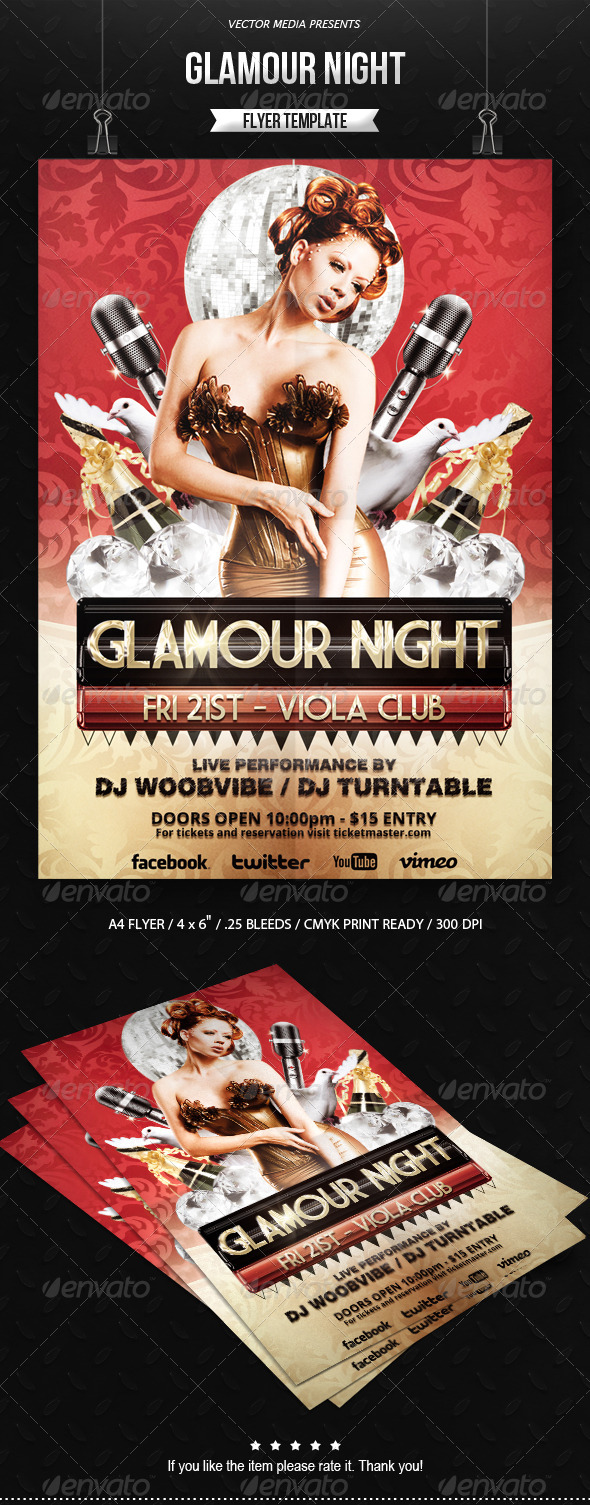 GraphicRiver Glamour Night Flyer 6548542