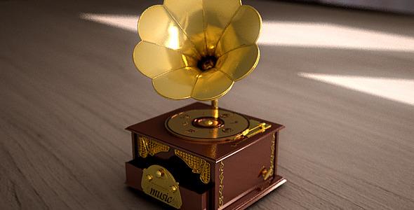 3DOcean 3D Deco Gramophone 6548612