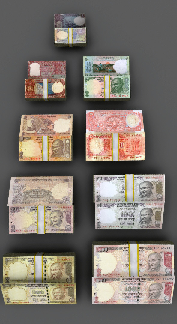 All Indian Currency  - 3DOcean Item for Sale