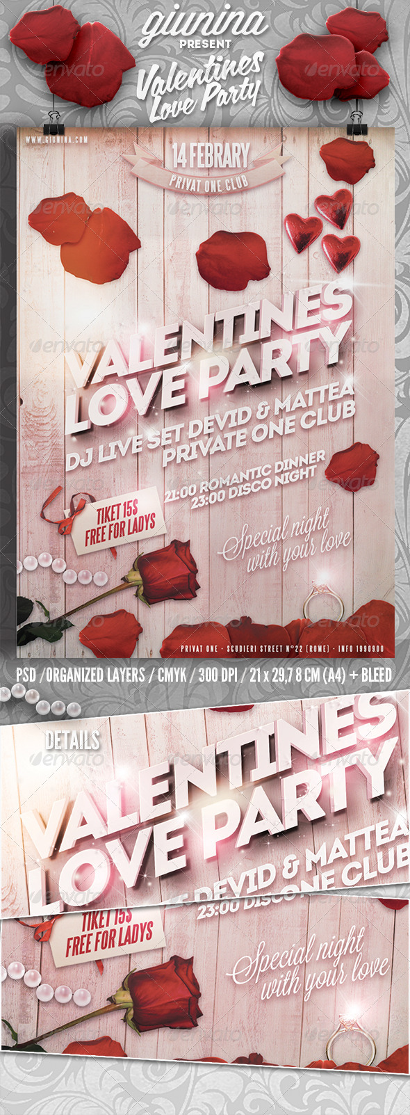 GraphicRiver Valentines Love Party Flyer Poster 6548630