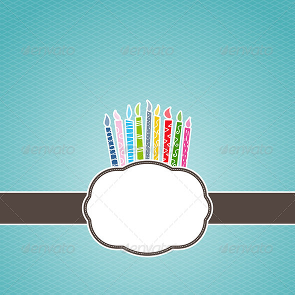 GraphicRiver Birthday Candle Label Frame 6548745