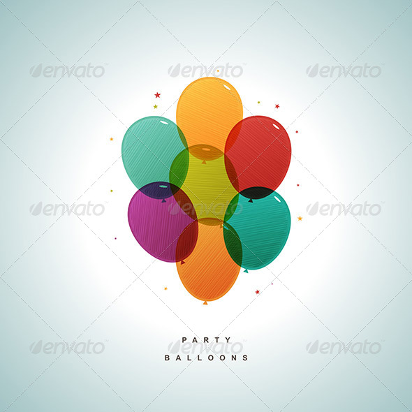 GraphicRiver Party Balloons 6548755