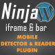 Mobile Detector & Reader Plugin for the Ninja Bar - CodeCanyon Item for Sale