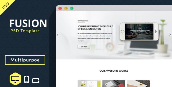 Fusion-Multipurpose PSD - Portfolio Creative