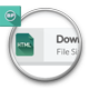 Flat Download Buttons
