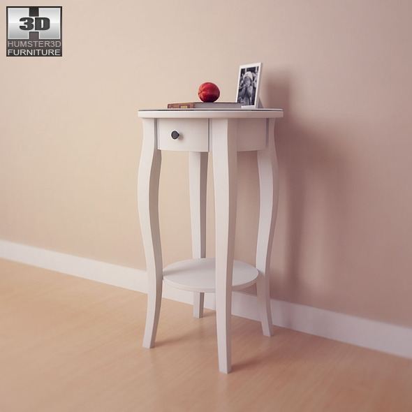 Hemnes Bedside Table: IKEA HEMNES Bedside Table - 3D Model. By Humster3d