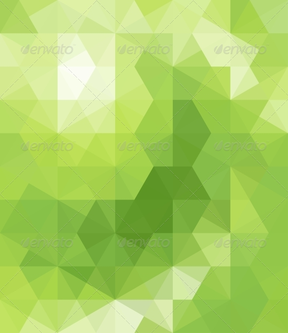 GraphicRiver Abstract Green Triangle Background 6549234