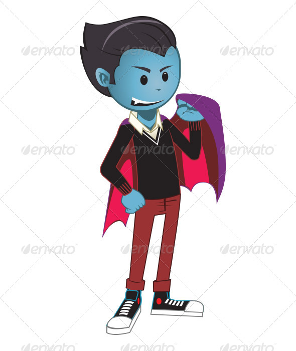 GraphicRiver Kid Dracula 6549329