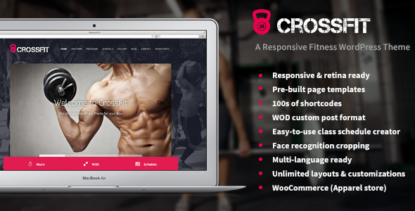 ThemeForest Crossfit A Responsive WordPress Gym Theme 6549383