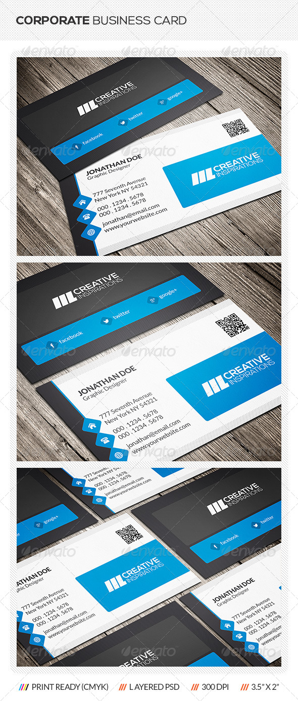 GraphicRiver Modern Corporate Business Card 6549386