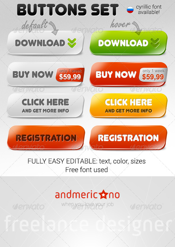 GraphicRiver Stylish Web Buttons 6549424