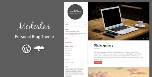 Modestas - Blog Theme / Personal Blogging