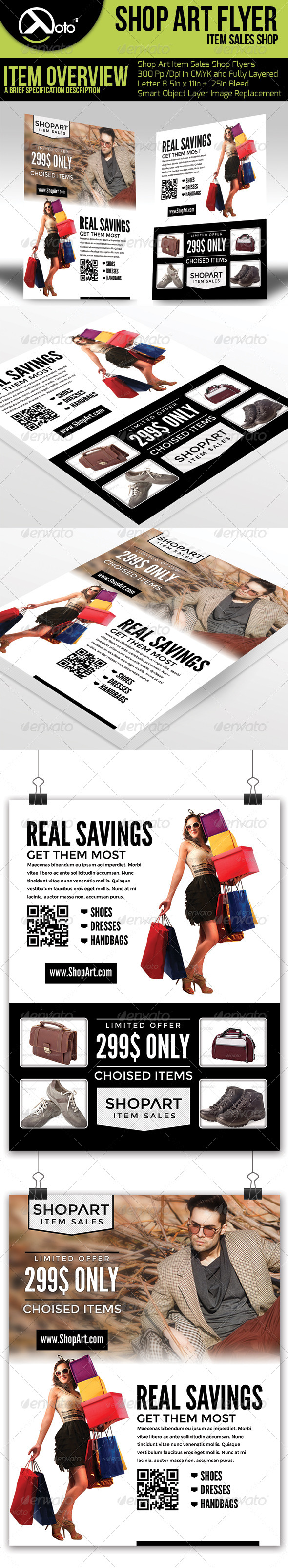 GraphicRiver ShopArt Online Shopping Flyers 6549461