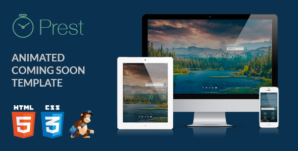 ThemeForest Prest Coming Soon Template 6546657