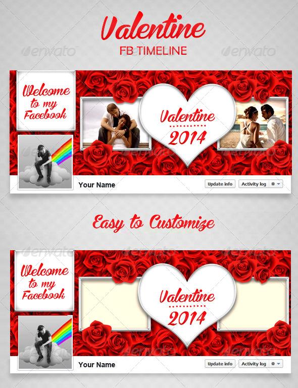 GraphicRiver Valentine FB Timeline V2 6549904