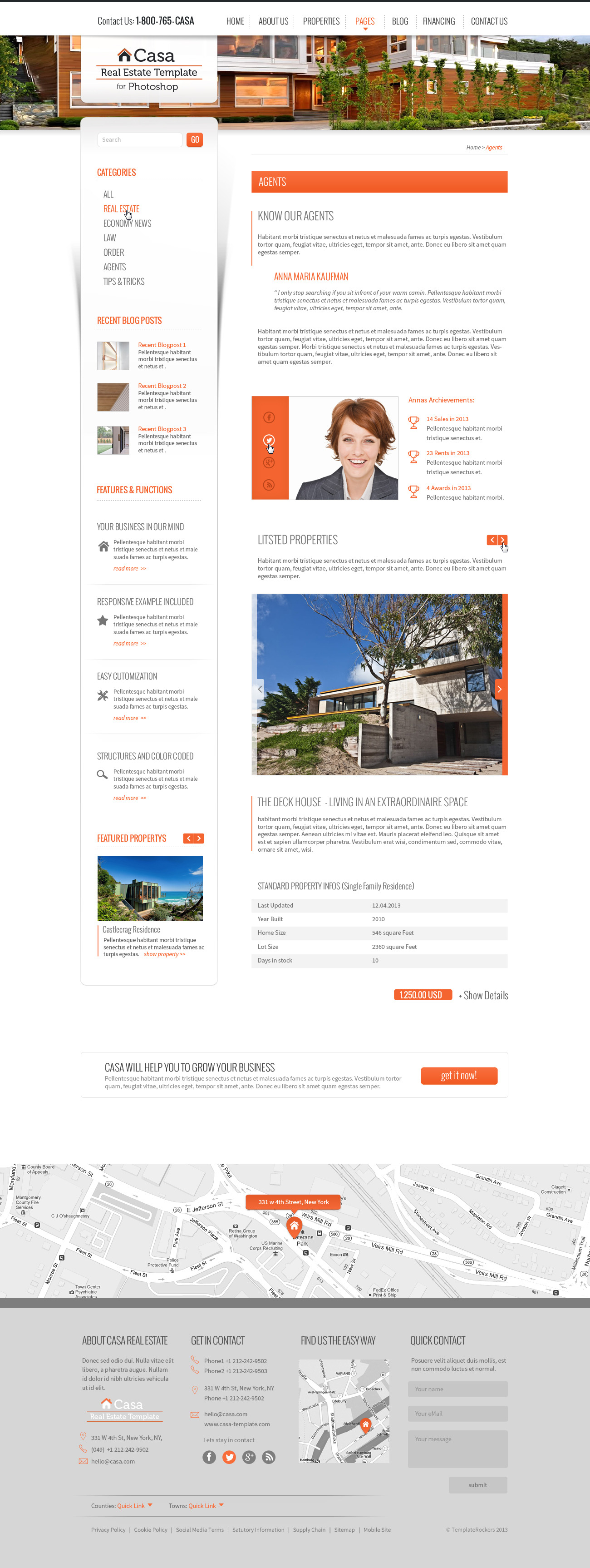 Casa Real Estate Template 51 Pages