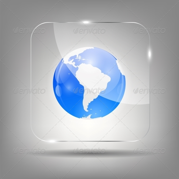 GraphicRiver Globe Icon Vector Illustration 6550015