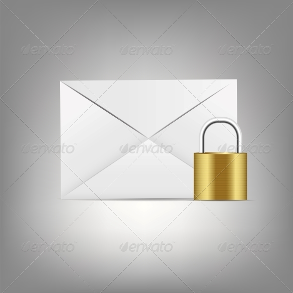 GraphicRiver Mail Icon with Lock 6550029