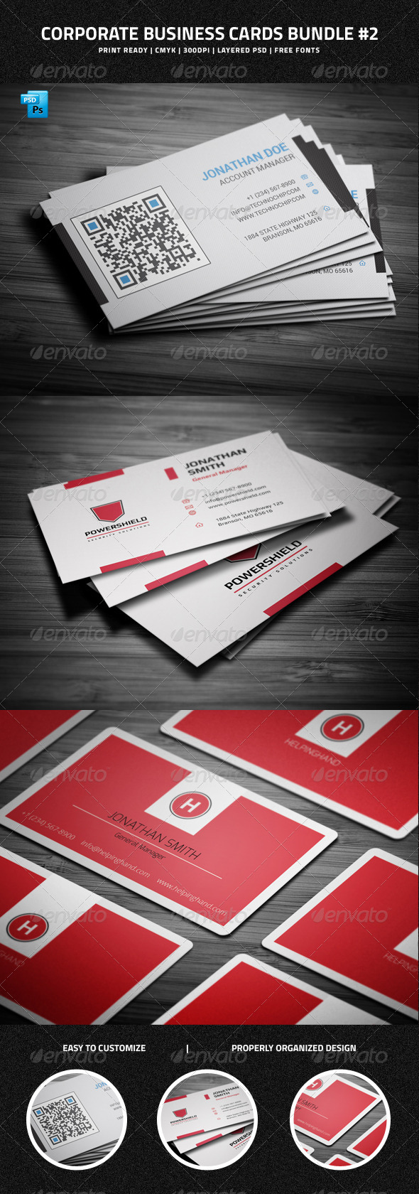 GraphicRiver Corporate Business Cards Bundle #2 6550093