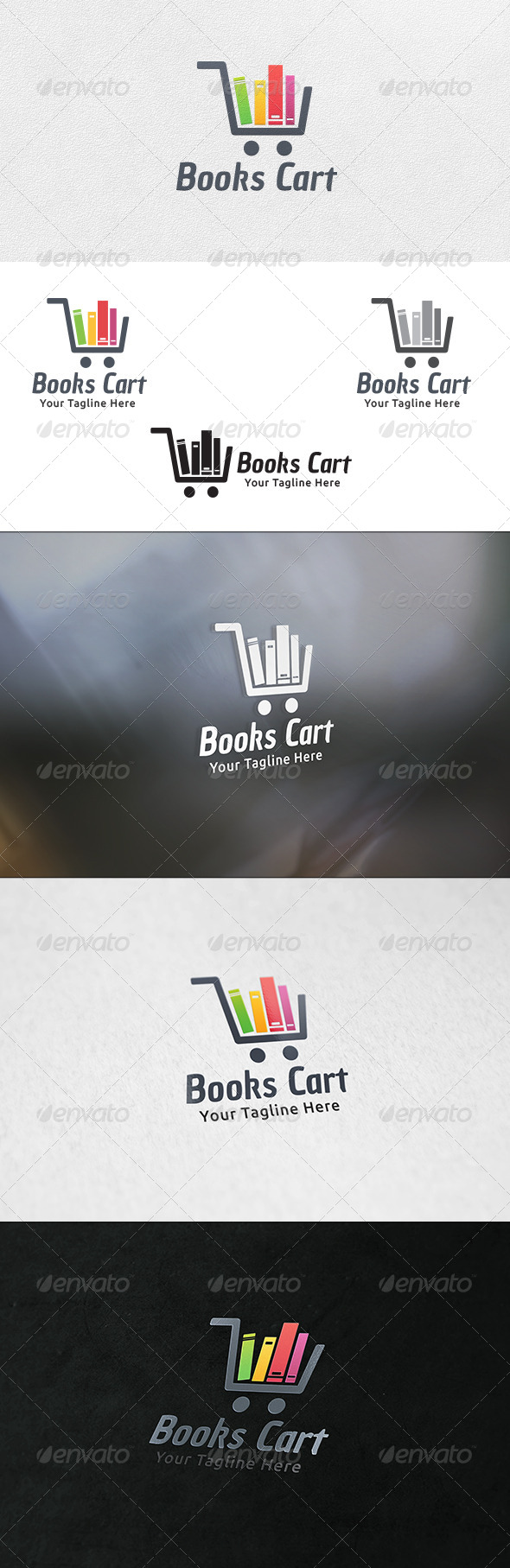 Books Cart - Logo Template