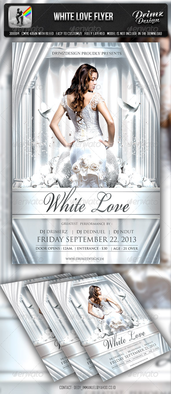 GraphicRiver White Love Flyer 6550149