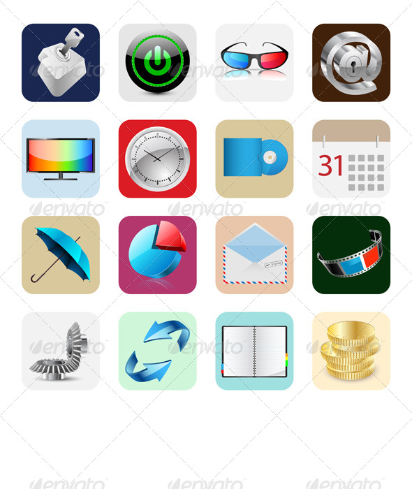 GraphicRiver Internet Web Icons 6550160