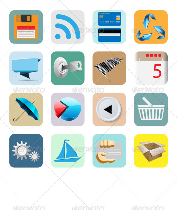 GraphicRiver Illustration Web Icons 6550168