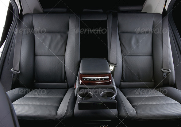 luxury car interior back seats stock photo photodune. Black Bedroom Furniture Sets. Home Design Ideas