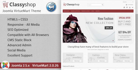 ClassyShop - VirtueMart Responsive Theme