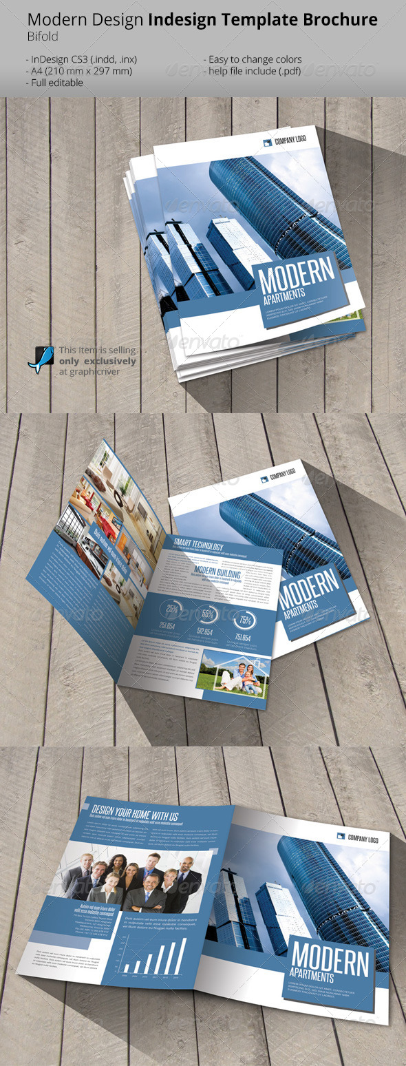 GraphicRiver Modern Construction Bifold Brochure Template 6529398